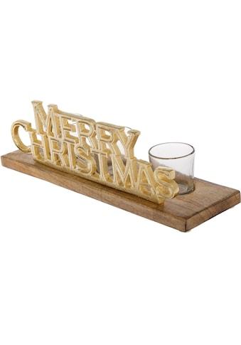 Teelichthalter »Merry Christmas« (Set, 4 Stück) kaufen