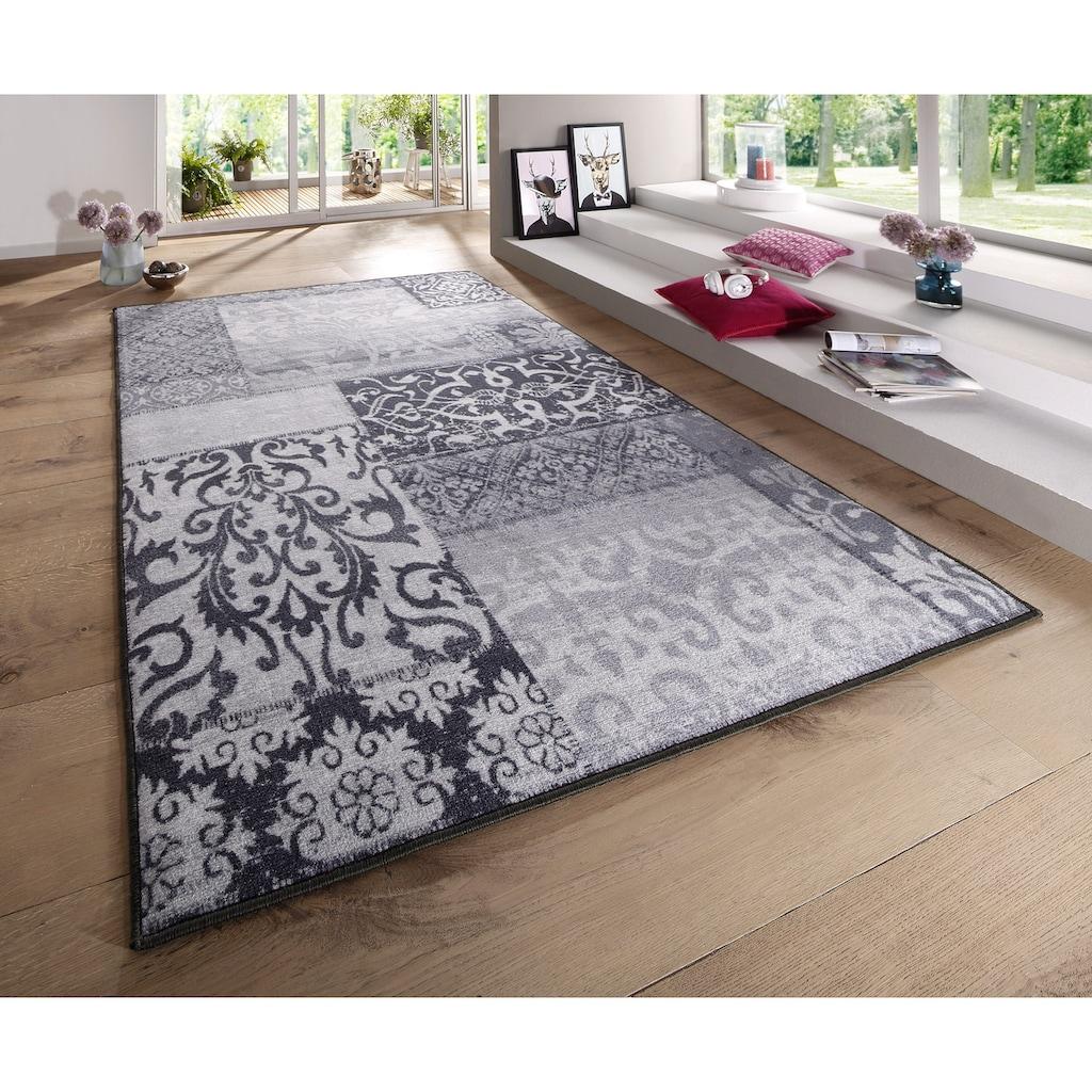 Andiamo Teppich »Jarama«, rechteckig, 6 mm Höhe, Kurzflor, Vintage Design, Wohnzimmer