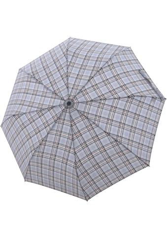 doppler® Taschenregenschirm »Carbonsteel Magic, Karo Grau« kaufen