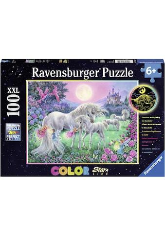 Ravensburger Puzzle »Color Star Line, Einhörner im Mondschein«, leuchtet im Dunkeln,... kaufen