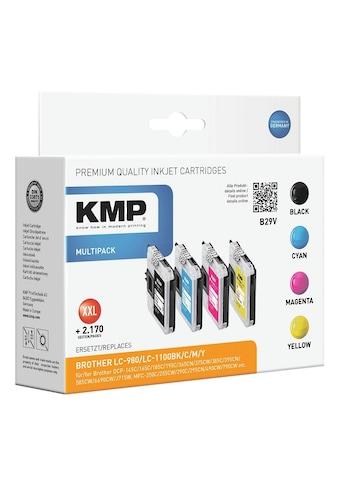 KMP Tintenpatronen - Set ersetzt Brother »LC - 980 / LC - 1100BK/C/M/Y« kaufen