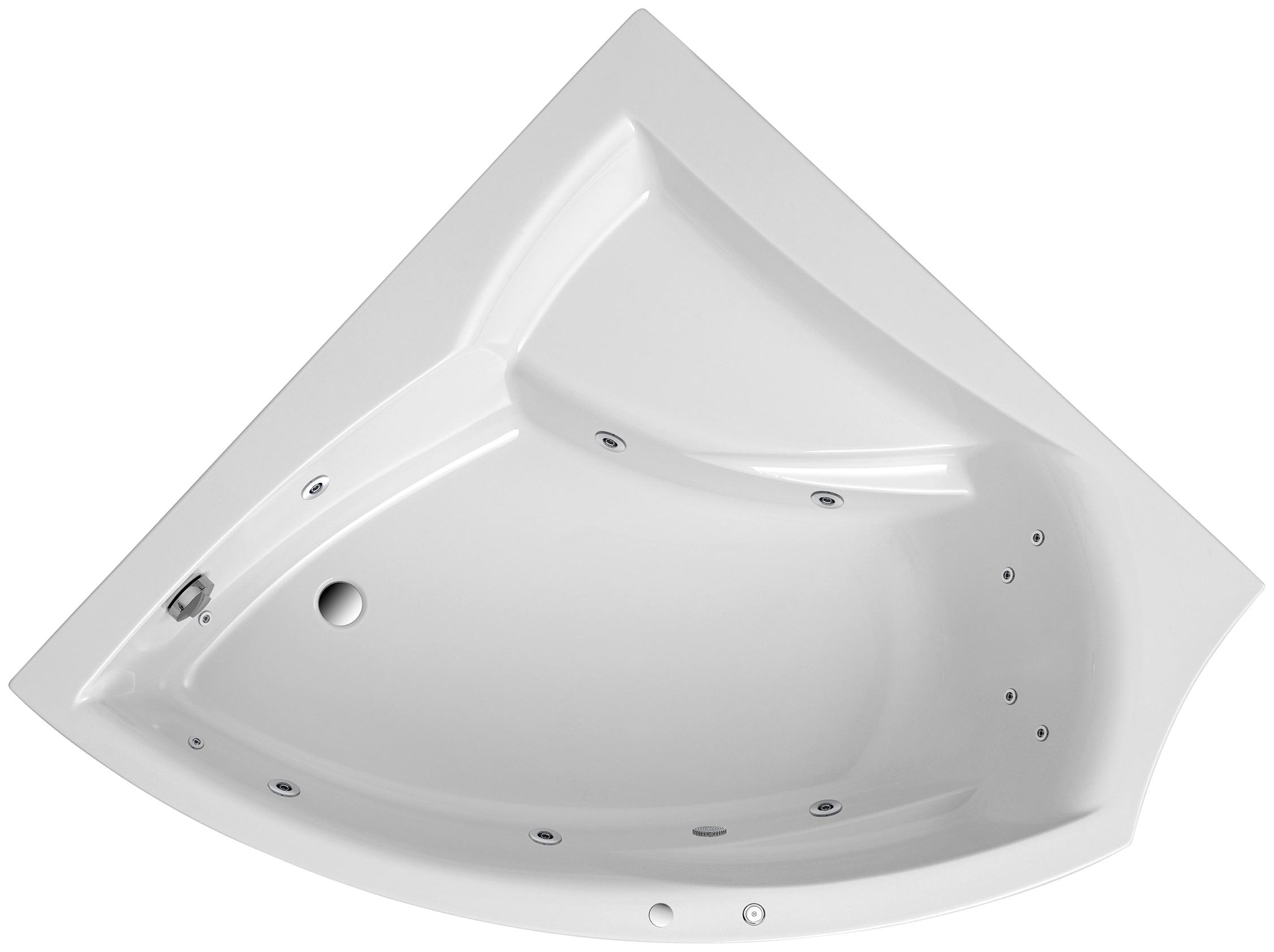 OTTOFOND Eckwanne »Aura«, B/T/H in cm: 150/150/45  inkl. Füße   Bad > Badewannen & Whirlpools > Eckbadewannen   Weiß   OTTOFOND