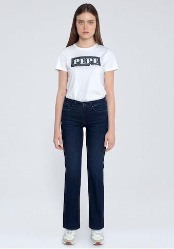 Pepe Jeans Bootcut-Jeans »AUBREY«, mit Bügelfalten und Stretch-Anteil kaufen