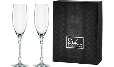 Eisch Champagnerglas »10 Carat«, (Set, 2 tlg.), handgefertigtes, bleifreis, 280 ml kaufen