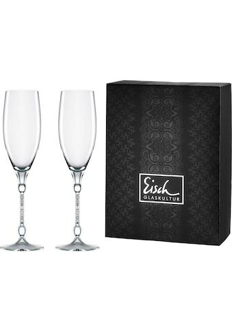 Eisch Champagnerglas »10 Carat«, (Set, 2 tlg.), handgefertigtes, bleifrei, 280 ml,... kaufen