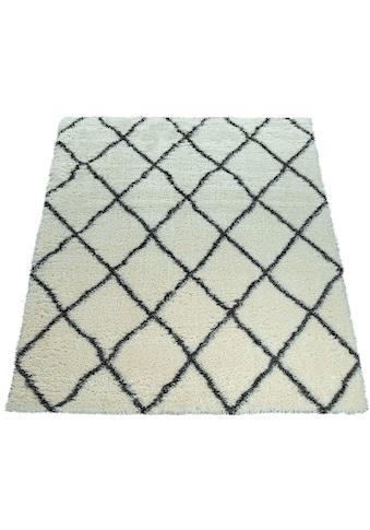 Hochflor - Teppich, »Maghreb 075«, Paco Home, rechteckig, Höhe 75 mm, maschinell gewebt kaufen