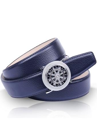 Anthoni Crown Ledergürtel, Leicht bombiert, mit Metallic-Finish kaufen