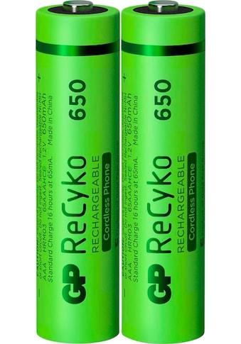 GP Batteries Akku »AAA Akku GP NiMH 650 mAh ReCyko 1,2V 2 Stück«, AAA kaufen