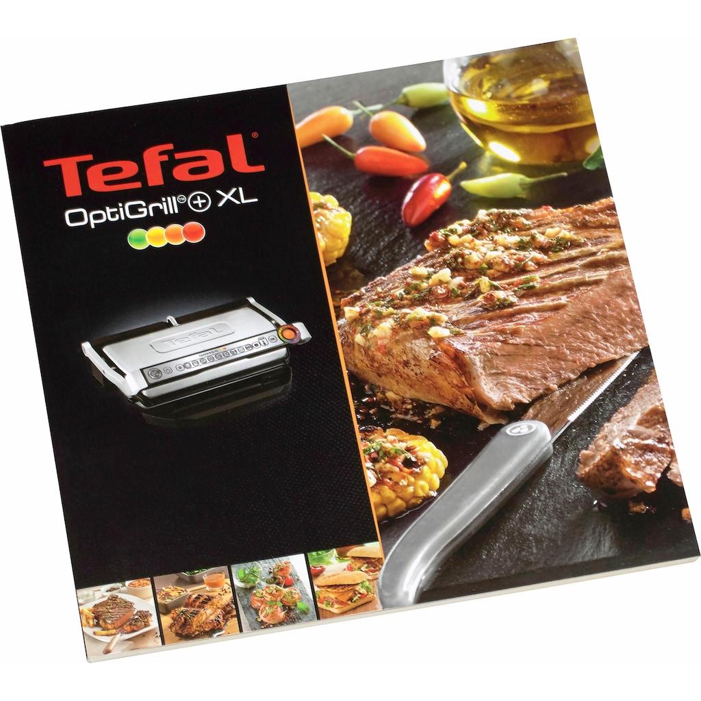 Tefal Kontaktgrill »GC712D OptiGrill+«, vier Temperaturstufen im manuellen Modus, Rezeptbuch und Rezept-App