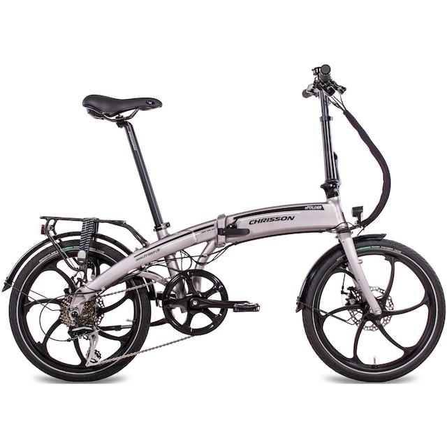 Chrisson E-Bike »Efolder«, 8 Gang Shimano Acera RD-M360 Schaltwerk, Kettenschaltung, Heckmotor 250 W