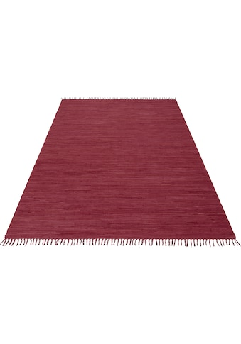 Teppich, »Handweb Uni«, Home affaire, rechteckig, Höhe 5 mm, handgewebt kaufen