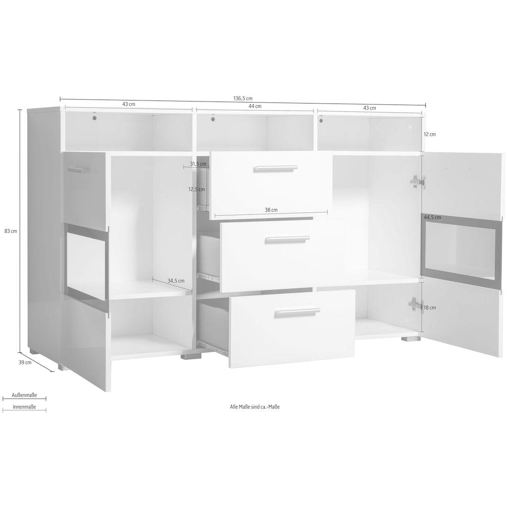 TRENDMANUFAKTUR Sideboard »Sarahmix«, Breite 136,5 cm
