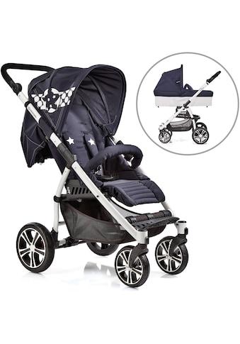 """Gesslein Kombi - Kinderwagen """"S4 Air+, Weiß/Blau & Babywanne C3 Stars Blau"""" kaufen"""