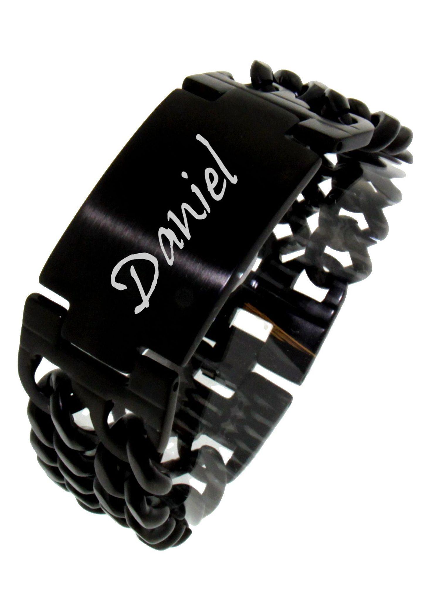 Firetti ID Armband »mehrreihig, mit kostenloser Gravur« | Schmuck > Armbänder > Armbänder mit Gravur | Schwarz | FIRETTI