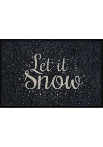 wash+dry by Kleen-Tex Fußmatte »Let it Snow«, rechteckig, 7 mm Höhe, Schmutzfangmatte,... kaufen