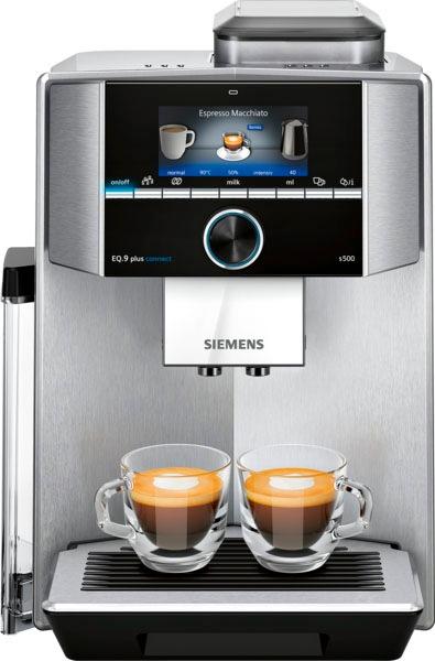 SIEMENS Kaffeevollautomat EQ.9 plus connect s500 TI9558X1DE , extra leise, automatische Reinigung, bis zu 10 individuelle Profile