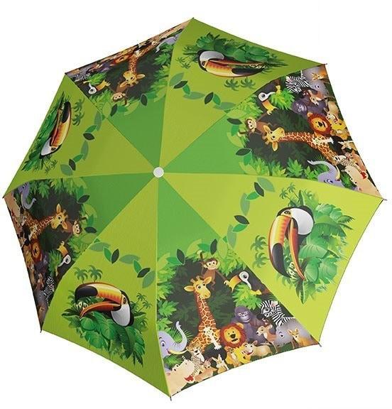 doppler® Regenschirm für Kinder, »Stockschirm Jungle Automatik« | Accessoires > Regenschirme > Stockschirme | Mehrfarbig | Polyester | DOPPLER