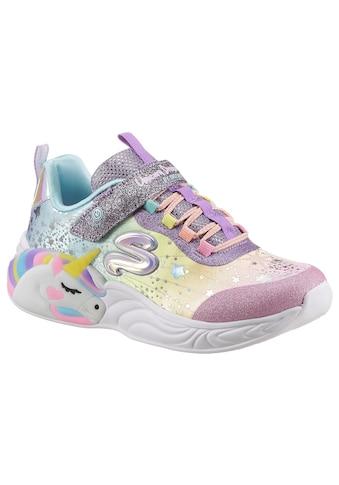 Skechers Kids Sneaker »UNICORN DREAMS«, mit Einhornmotiv und Blinkfunktion kaufen