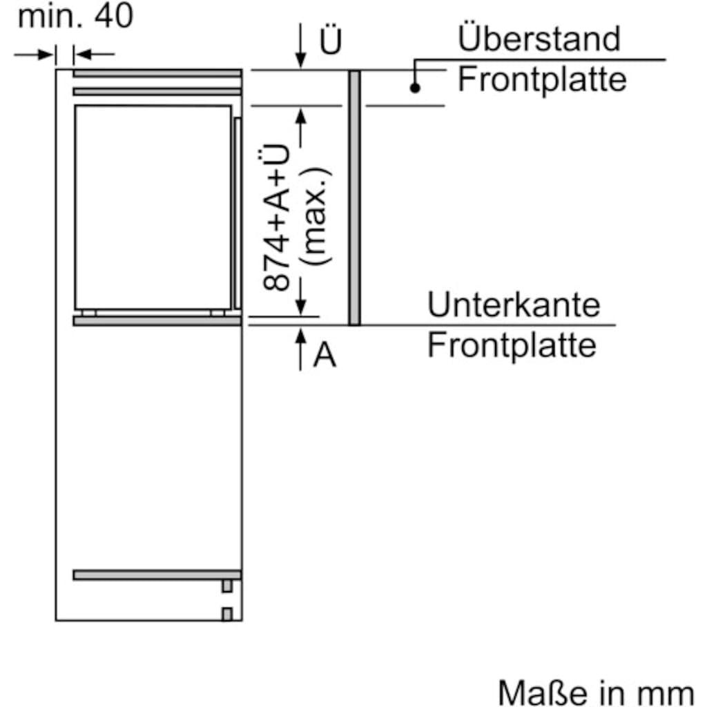 SIEMENS Einbaugefrierschrank »GI21VAFE0«, iQ500, 87,4 cm hoch, 55,8 cm breit