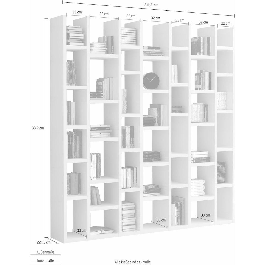 fif möbel Raumteilerregal »TOR165«, Breite 211 cm
