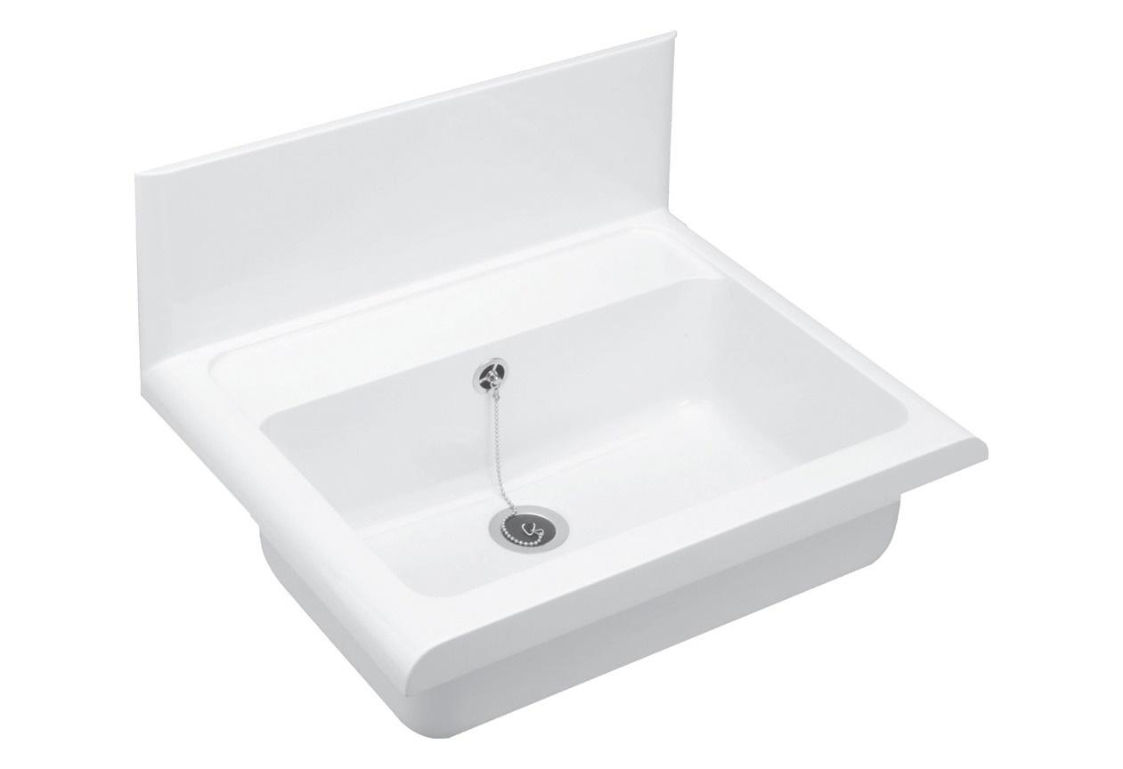 Cornat Waschbecken, Wandausgussbecken, Breite 49,5 cm   Bad > Waschbecken   Weiß   CORNAT