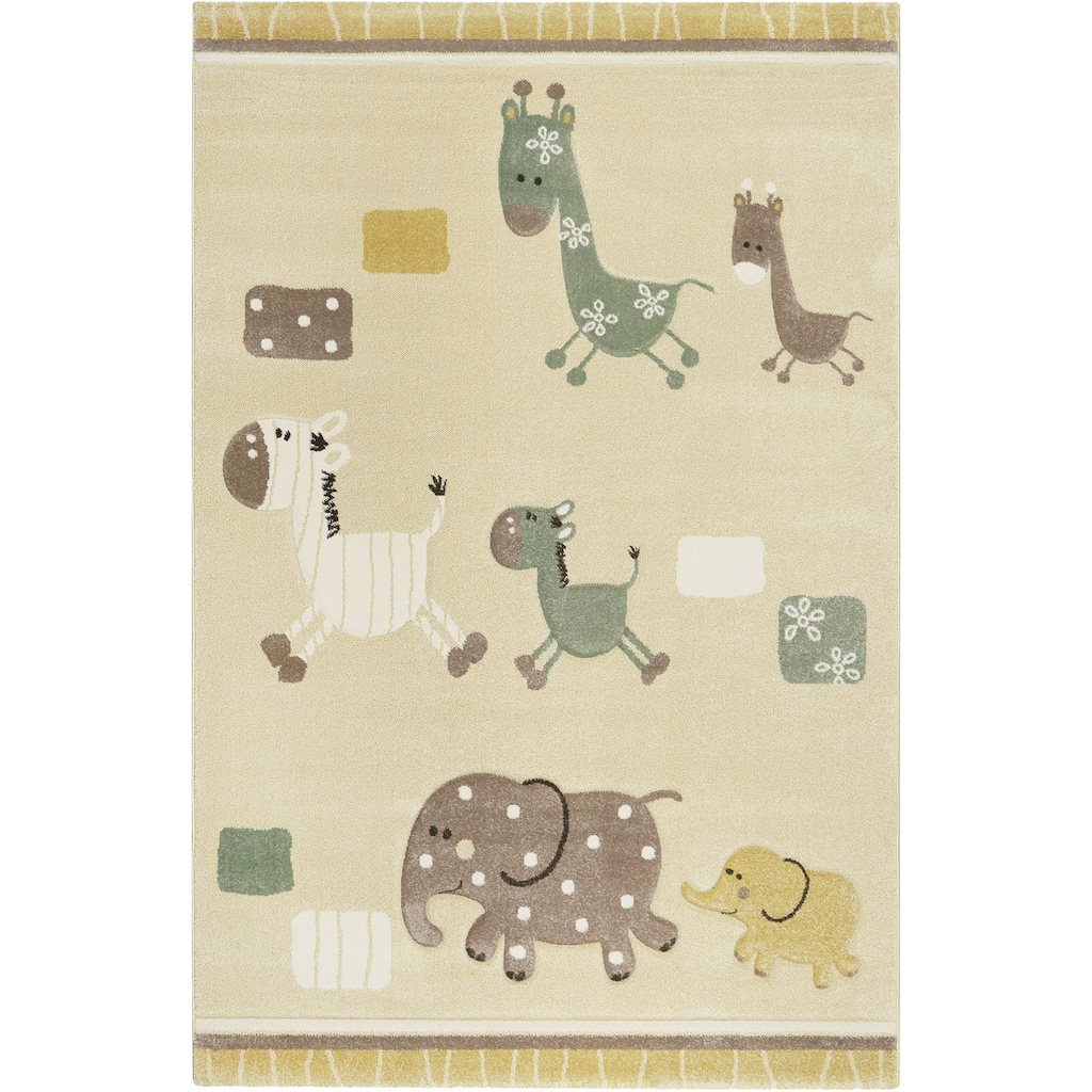 Esprit Kinderteppich »Kids Lucky Zoo 2.0«, rechteckig, 13 mm Höhe, Kinder Zoo Motiv Teppich