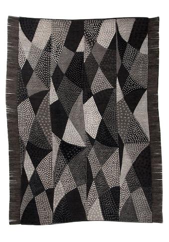 DIE HAUSKUNST Teppich »Chiya Tiama 1«, rechteckig, 4 mm Höhe, Flachgewebe, handgewebt,... kaufen