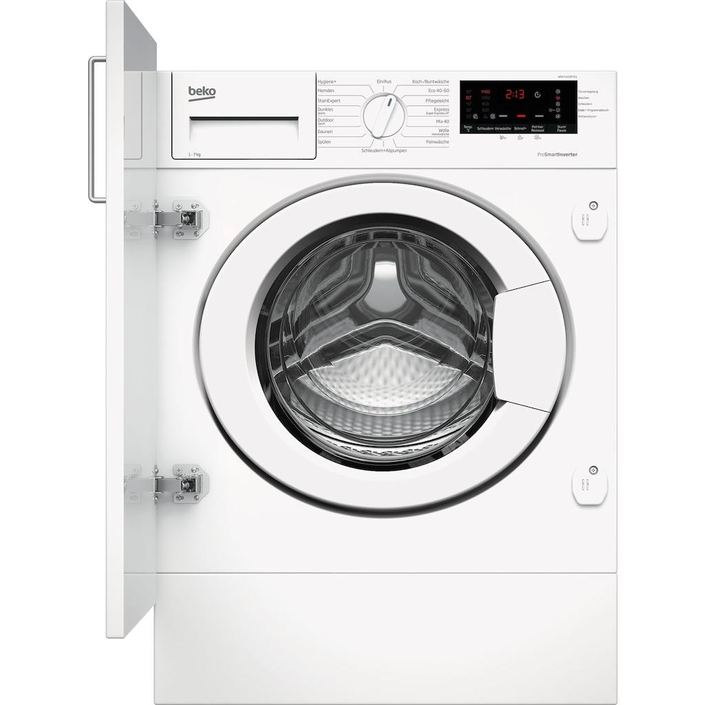 BEKO Einbauwaschmaschine »WMI71433PTE1«, WMI71433PTE1
