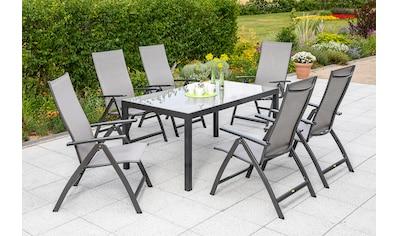 MERXX Gartenmöbelset »Vicenza«, (7 tlg.), 6 Klappsessel mit Tisch kaufen