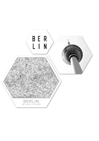 Wall-Art Mehrteilige Bilder »Typisch Berlin Collage«, (Set, 3 St.) kaufen