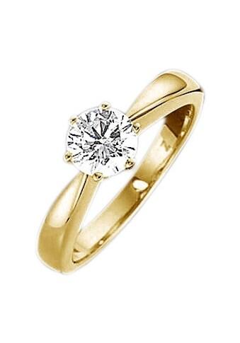 Firetti Fingerring »Verlobungsring, Vorsteckring, Solitär, Gelbgold« kaufen