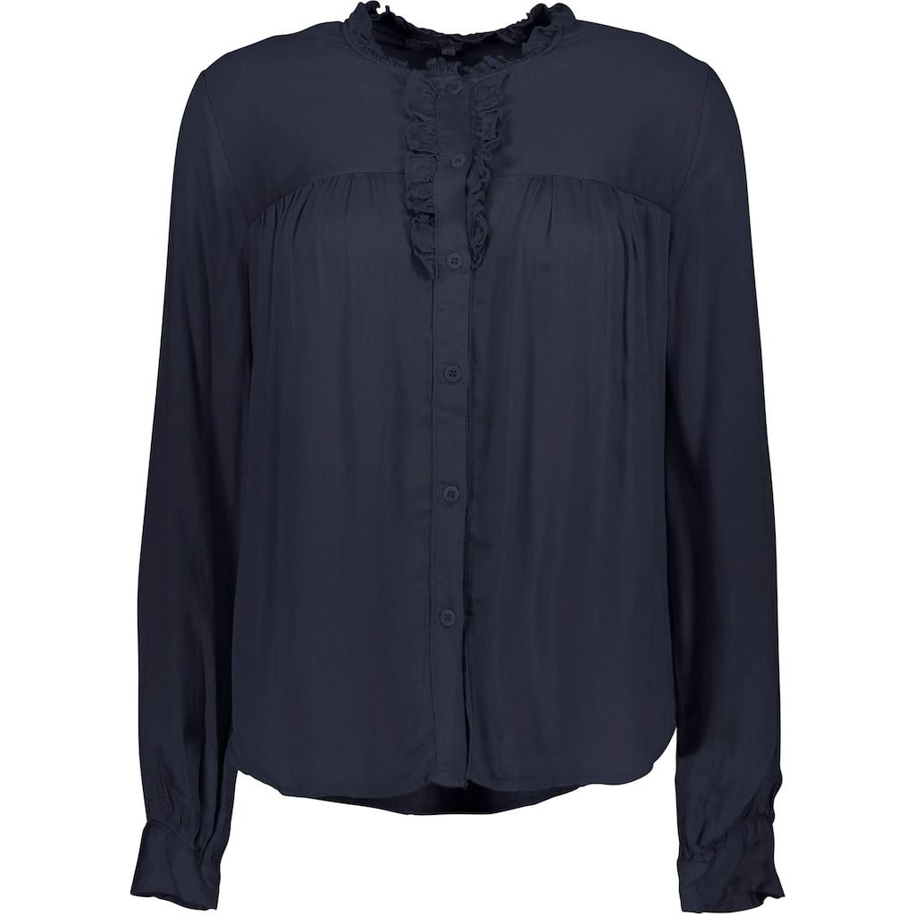 Please Jeans Langarmshirt »C0Q5Z«, mit Rüschen und Volant-Besatz