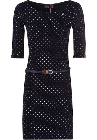 Ragwear Jerseykleid »TAMY«, (2 tlg., mit abnehmbarem Gürtel), mit Dots-Allover-Print kaufen
