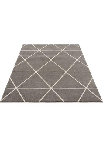 DELAVITA Teppich »Morten«, rechteckig, 17 mm Höhe, kurzer weicher Flor, Wohnzimmer kaufen