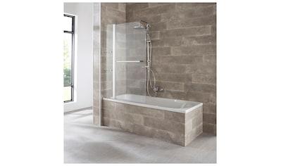 welltime Badewannenaufsatz »Girona«, mit verchromtem Handtuchhalter und Glasablagen kaufen
