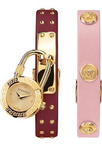 Versace Schweizer Uhr »Medusa Lock Icon, VEDW00319«, (Set, 3 tlg., mit zusätzlichem Lederband) kaufen