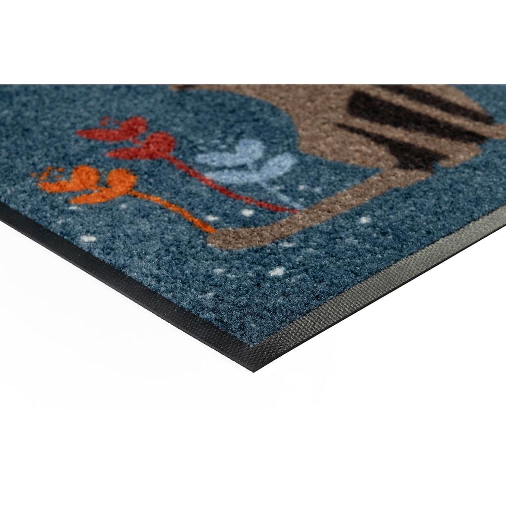 wash+dry by Kleen-Tex Fußmatte »Fritz & Friedegunde«, rechteckig, 7 mm Höhe, Schmutzfangmatte, In- und Outdoor geeignet, waschbar