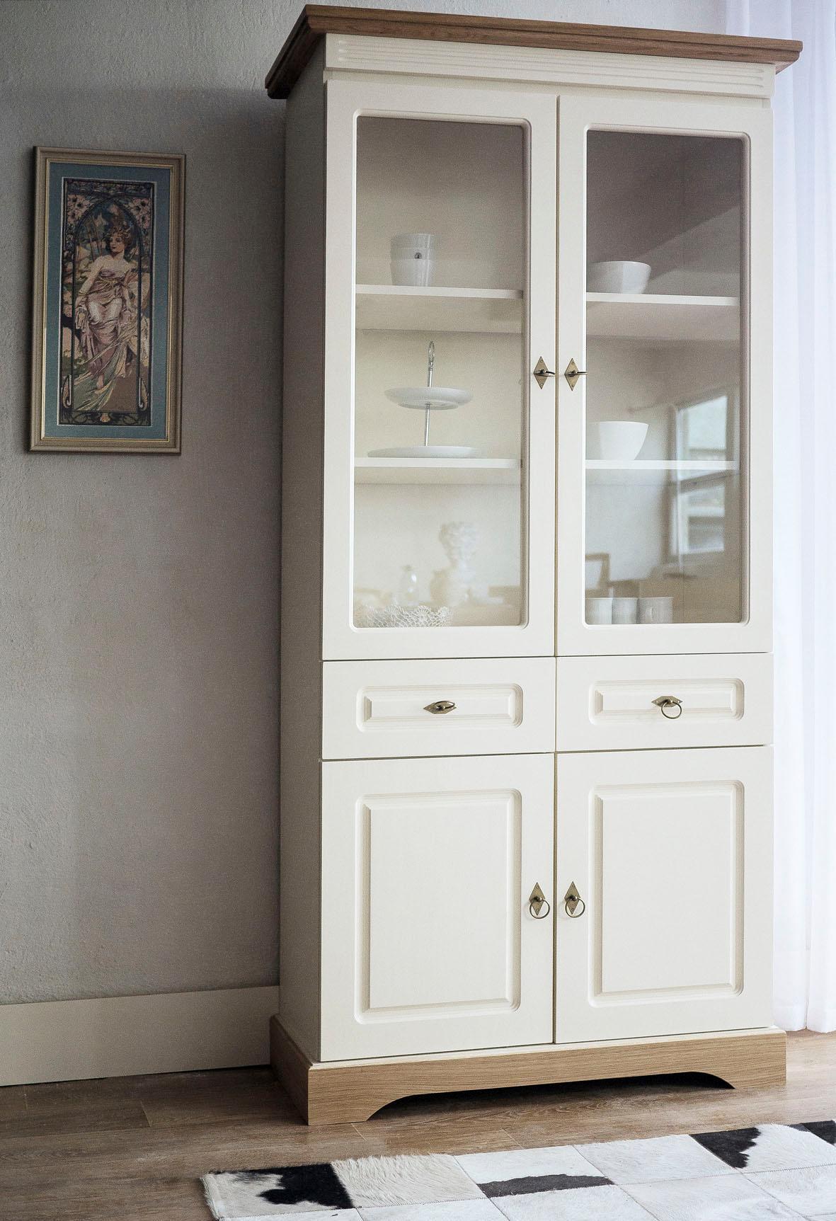 gelb massivholz standvitrinen online kaufen m bel suchmaschine. Black Bedroom Furniture Sets. Home Design Ideas