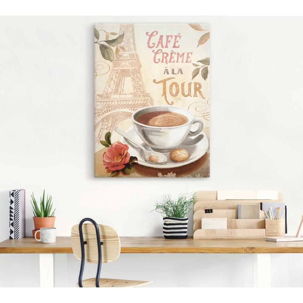 Artland Wandbild »Kaffee in Europa III«, Getränke, (1 St.), in vielen Größen & Produktarten -Leinwandbild, Poster, Wandaufkleber / Wandtattoo auch für Badezimmer geeignet