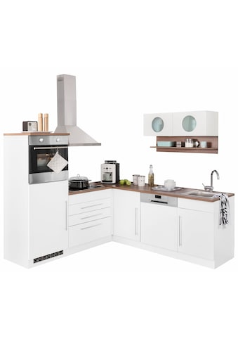 Winkelküche »Keitum«, mit E - Geräten, Stellbreite 200 x 220 cm kaufen