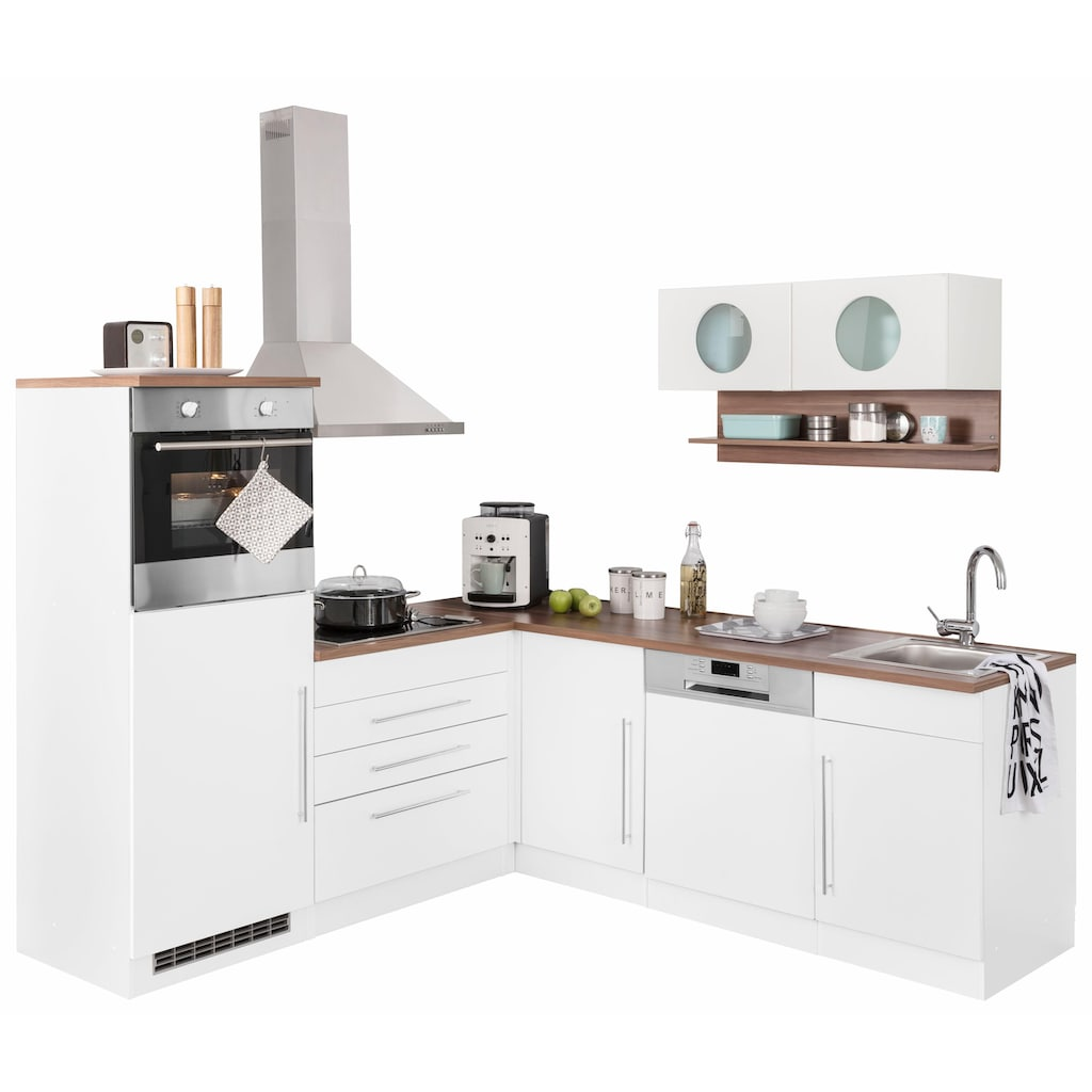 HELD MÖBEL Winkelküche »Keitum«, mit E-Geräten, Stellbreite 200 x 220 cm