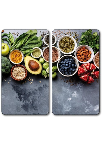 """KESPER for kitchen & home Schneide -  und Abdeckplatte """"Healthy Kitchen"""", ESG - Sicherheitsglas, (Set, 2 - tlg.) kaufen"""