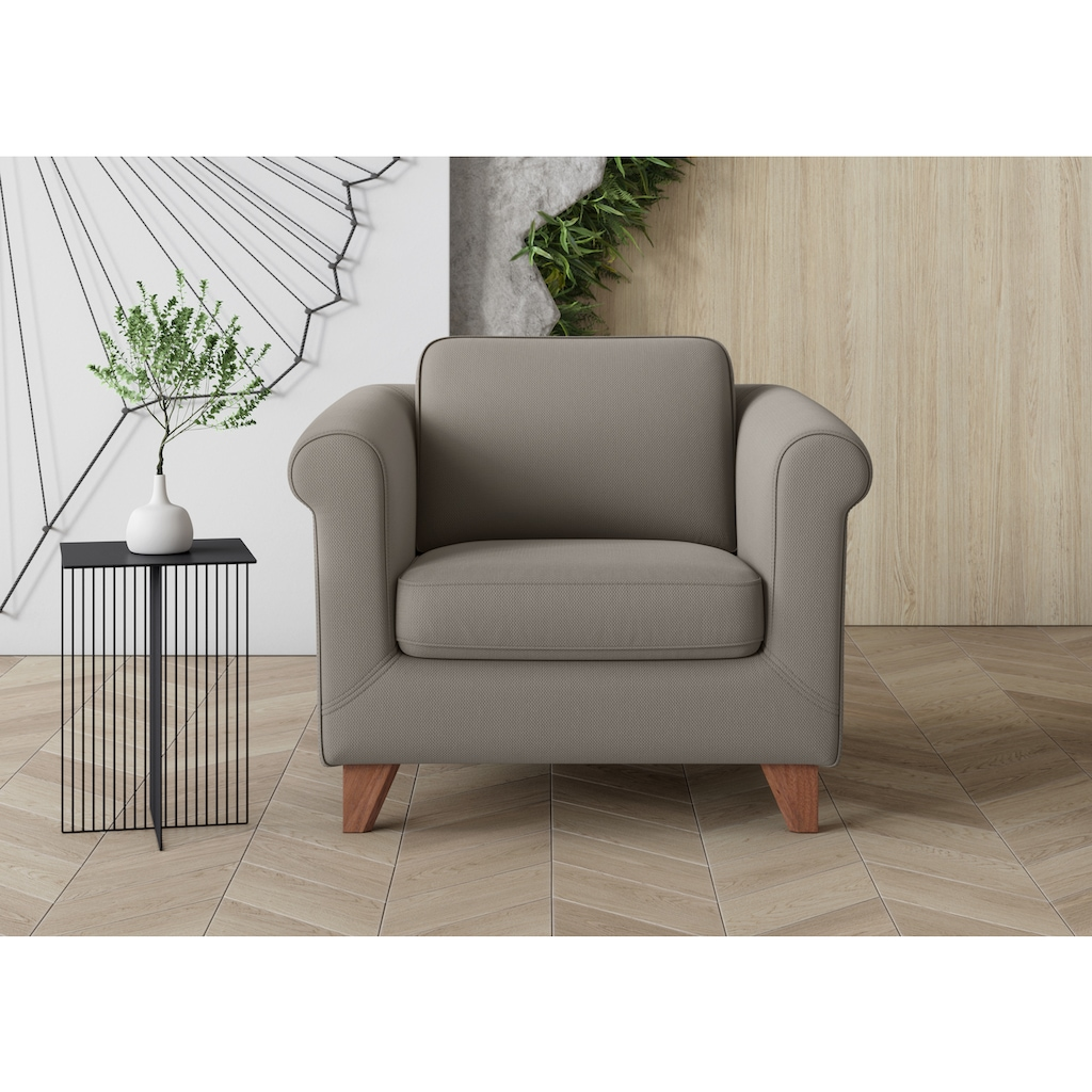 machalke® Sessel »amadeo«, mit geschwungenen Armlehnen