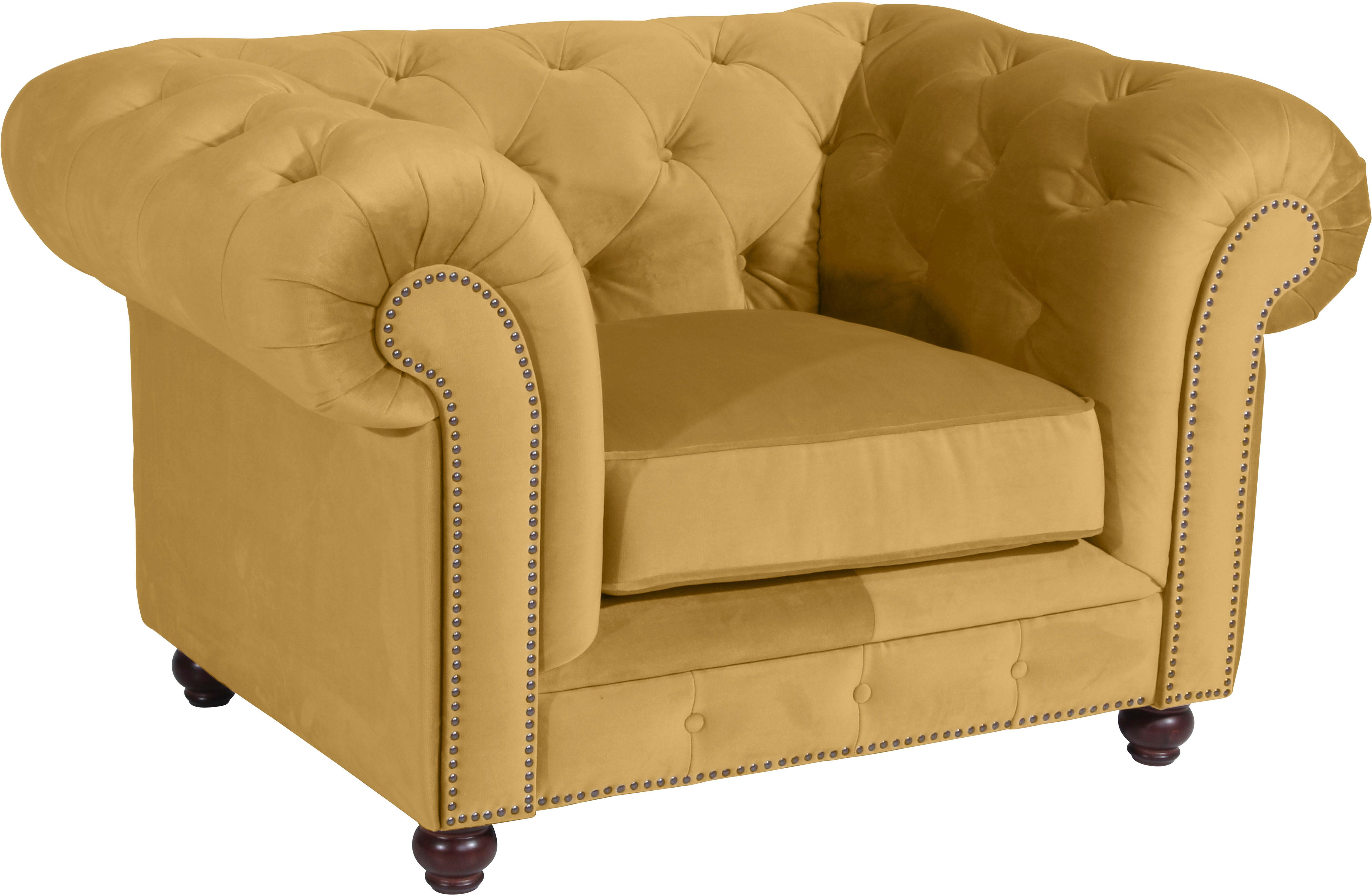 Max Winzer® Chesterfield-Sessel »Old England« | Wohnzimmer > Sessel > Chesterfield Sessel | Gelb | MAX WINZER