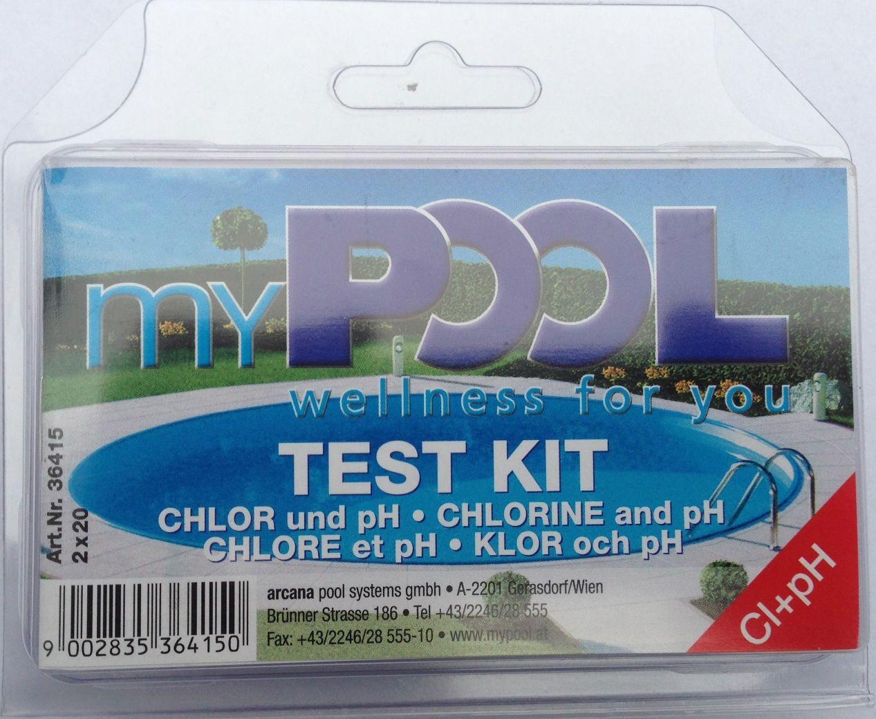 MYPOOL Wasserpflege »Chlor- und pH-Testgerät«, inkl. Poolpflege | Garten > Swimmingpools > Poolpflege | Blau | MYPOOL