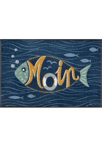 wash+dry by Kleen-Tex Fußmatte »Moin Bubbly«, rechteckig, 7 mm Höhe, Schmutzfangmatte,... kaufen