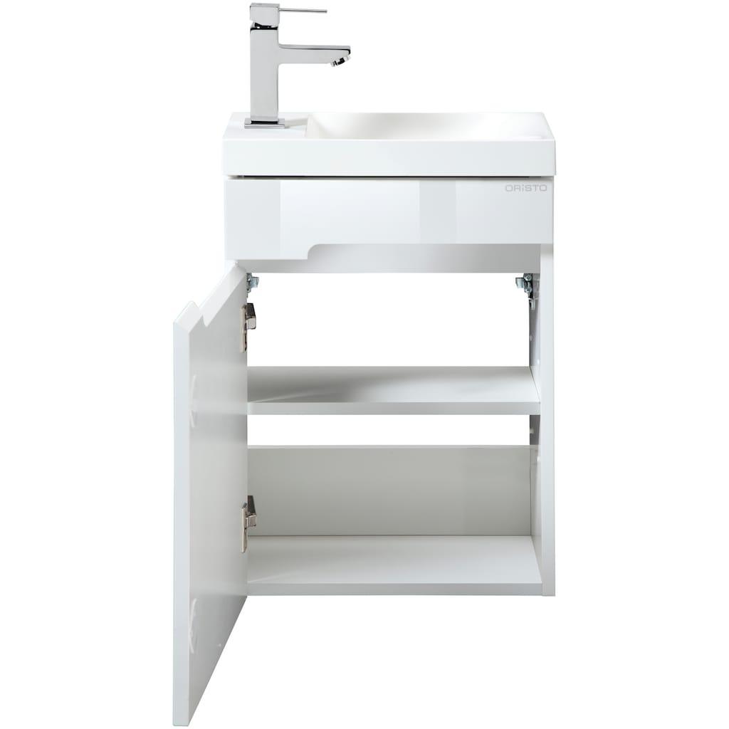 Oristo Waschtisch »Silver«, Gästebad, Breite 40 cm