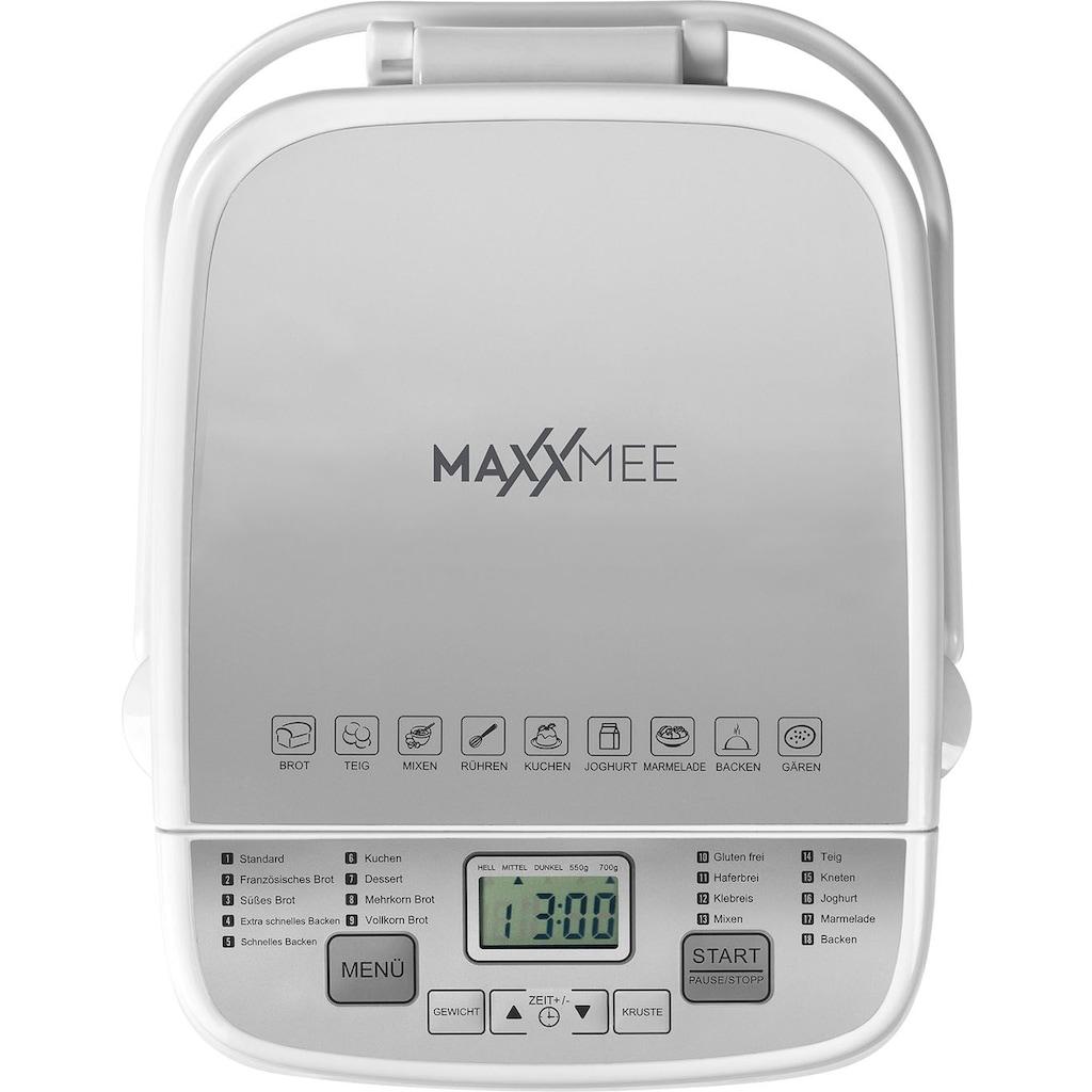 MAXXMEE Brotbackautomat »weiß«, 18 Programme, 500 W