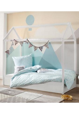 Lüttenhütt Hausbett »Ellen«, aus massivem Kiefernholz, in zwei verschiedenen Farbvarianten erhältlich, Breite 98 cm kaufen
