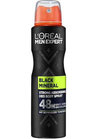 L'ORÉAL PARIS MEN EXPERT Deo-Spray »Black Mineral«, absorbierender Schutz gegen... kaufen